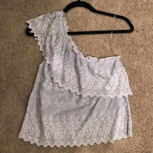 Never Worn American Eagle one shoulder lace shirt